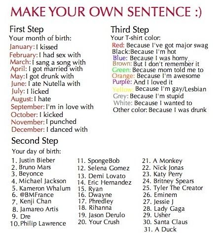 Game u2013 Make Your Own Sentence! I raped a martini cuz I felt like - personal driver resume