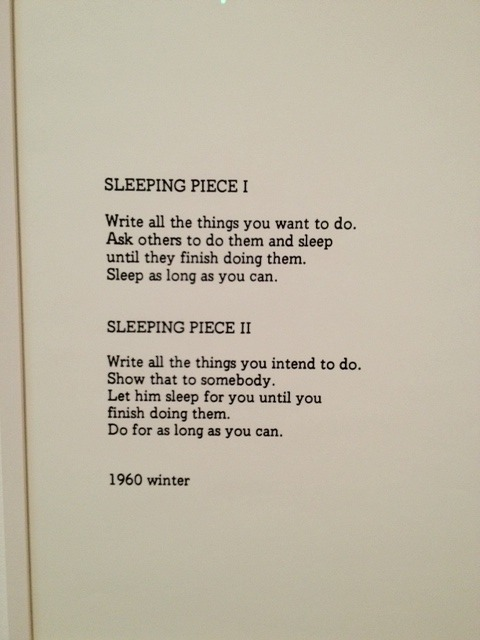 Sleeping Piece I + II (1960) Past and Present Obsessions - how to write a paper