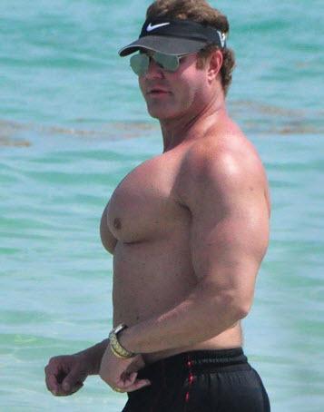 muscular male pecs
