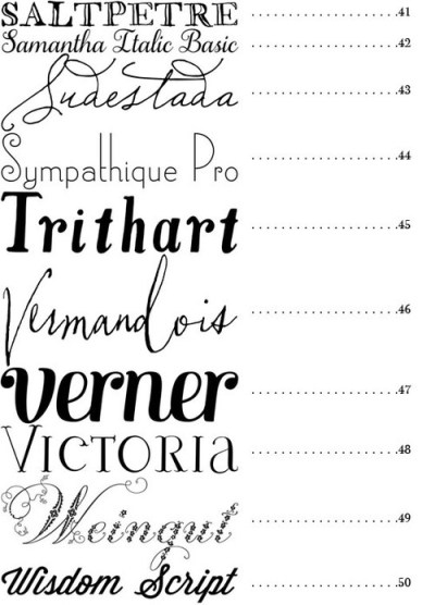 MERRY BRIDES — 50 Fonts   Best Fonts for Wedding Invitations