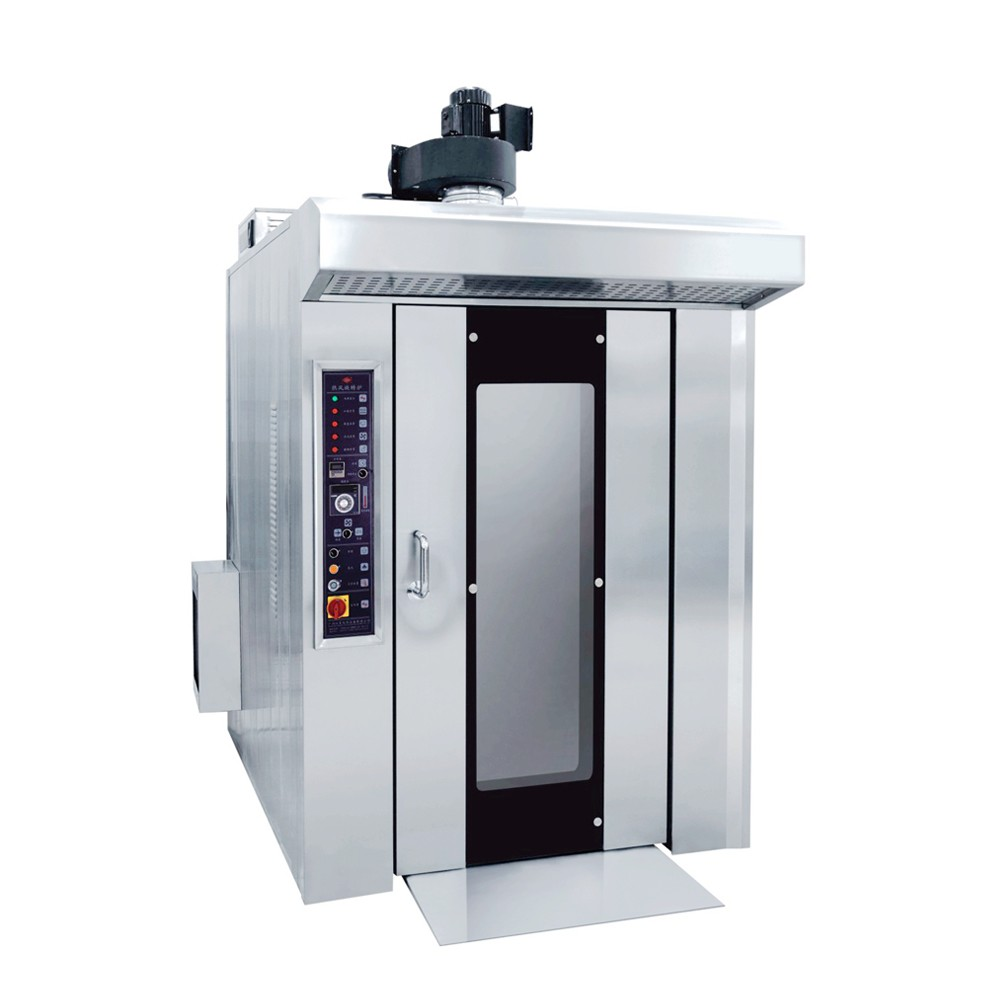 16 Trays 400x600mm 35kw Electric Bakery Rotary Rack Oven