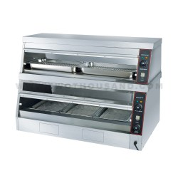 L 1500mm 2 Layers Commercial Hot Food Display Warmer Tt We60