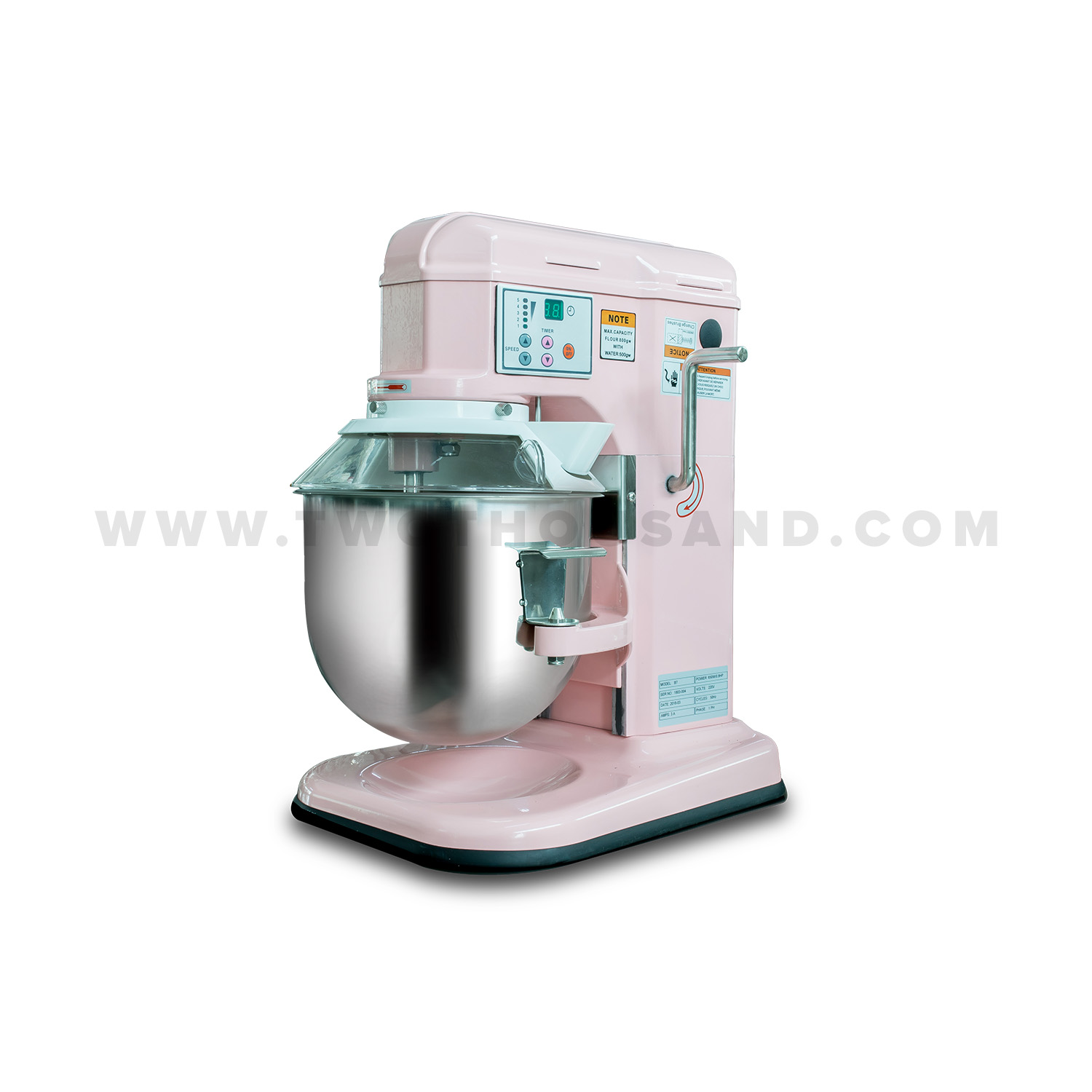 Commercial Countertop Mixer 7l 5 Speed Gear Drive Ce Digital Control Countertop Stand