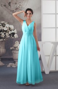 Turquoise Chiffon Bridesmaid Dress Affordable Sexy Western ...