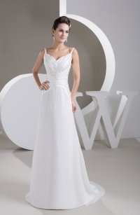 White Casual Sweet 16 Dress Long Sweep Train Backless ...