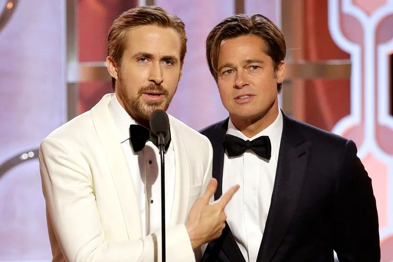 Ryan Gosling And Brad Pitt Are The Golden Globess Best