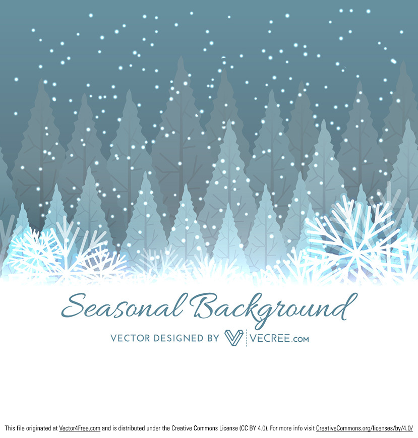 Tree With Leaves Falling Wallpaper Winter Tree Christmas Background Free Vector Art