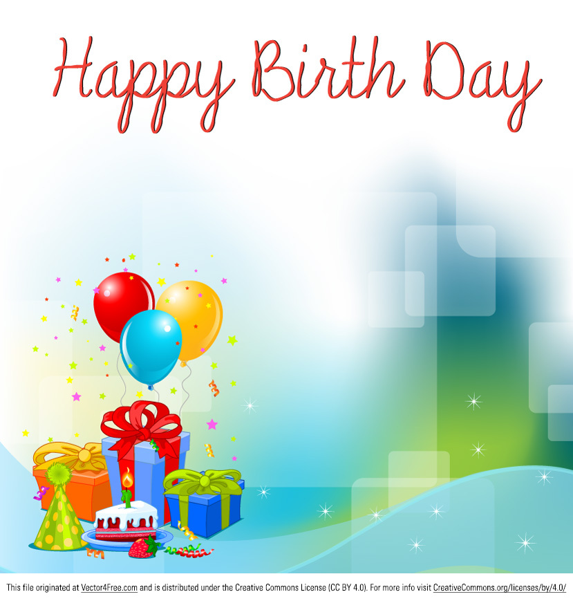 Free Birthday Background Vector