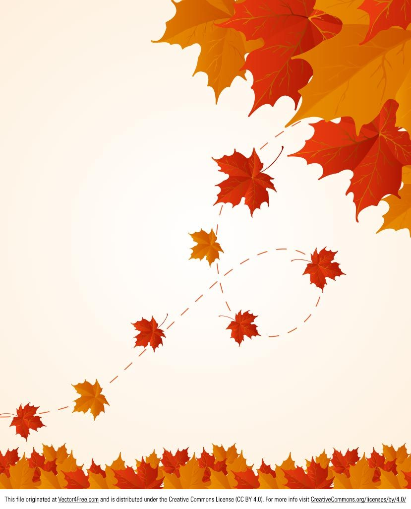 Free Fall Tree Wallpaper Free Red And Orange Fall Leaves Vector Background