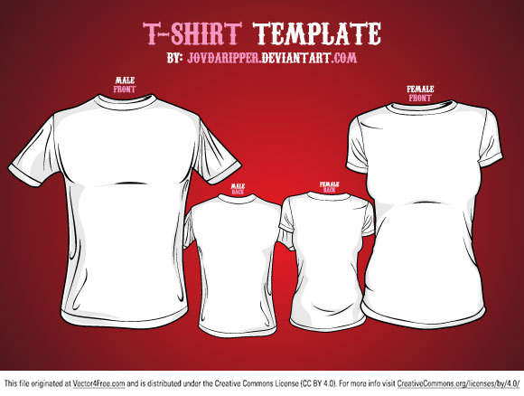 Free Vector T-shirt Template - would 4 free