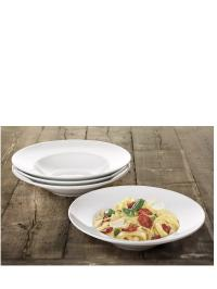 Set of 4 Large Rimmed Pasta Bowls | very.co.uk