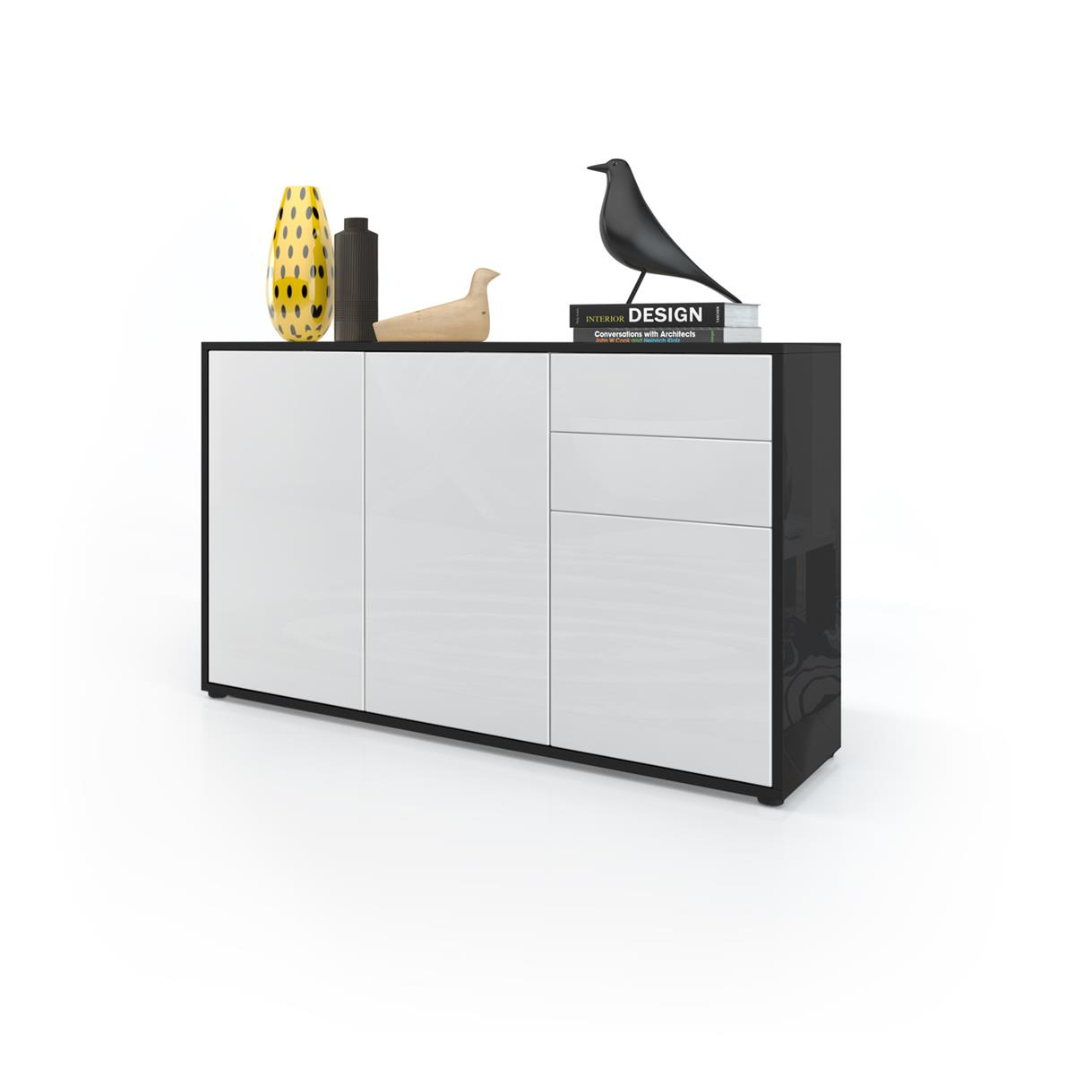 Sideboard Schwarz Weiß Hochglanz Sideboards Sideboards Highboards Vladon Möbel 2018