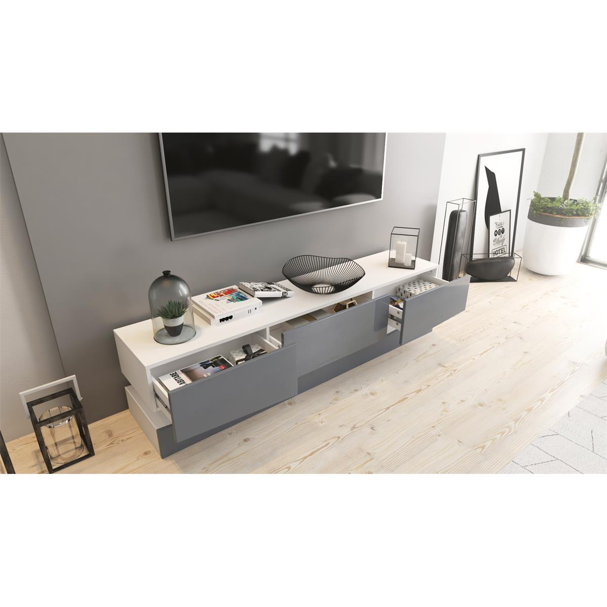 Tv Board Lowboard City Tv Board City Mit Schubkästen Und Sockel Led Optional