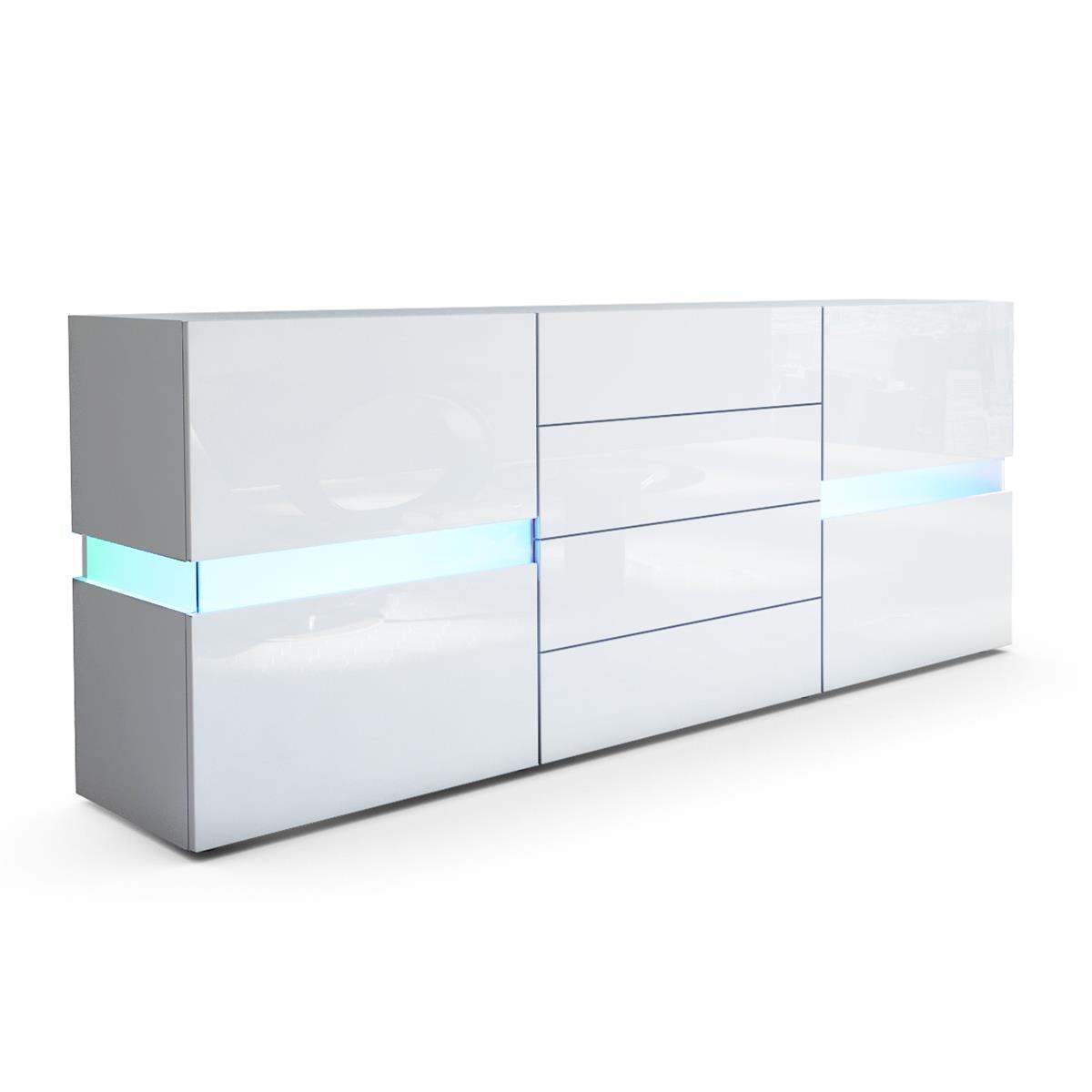 Weiße Sideboards Flow Sideboard Kommode Mit Ambient Light Und Led