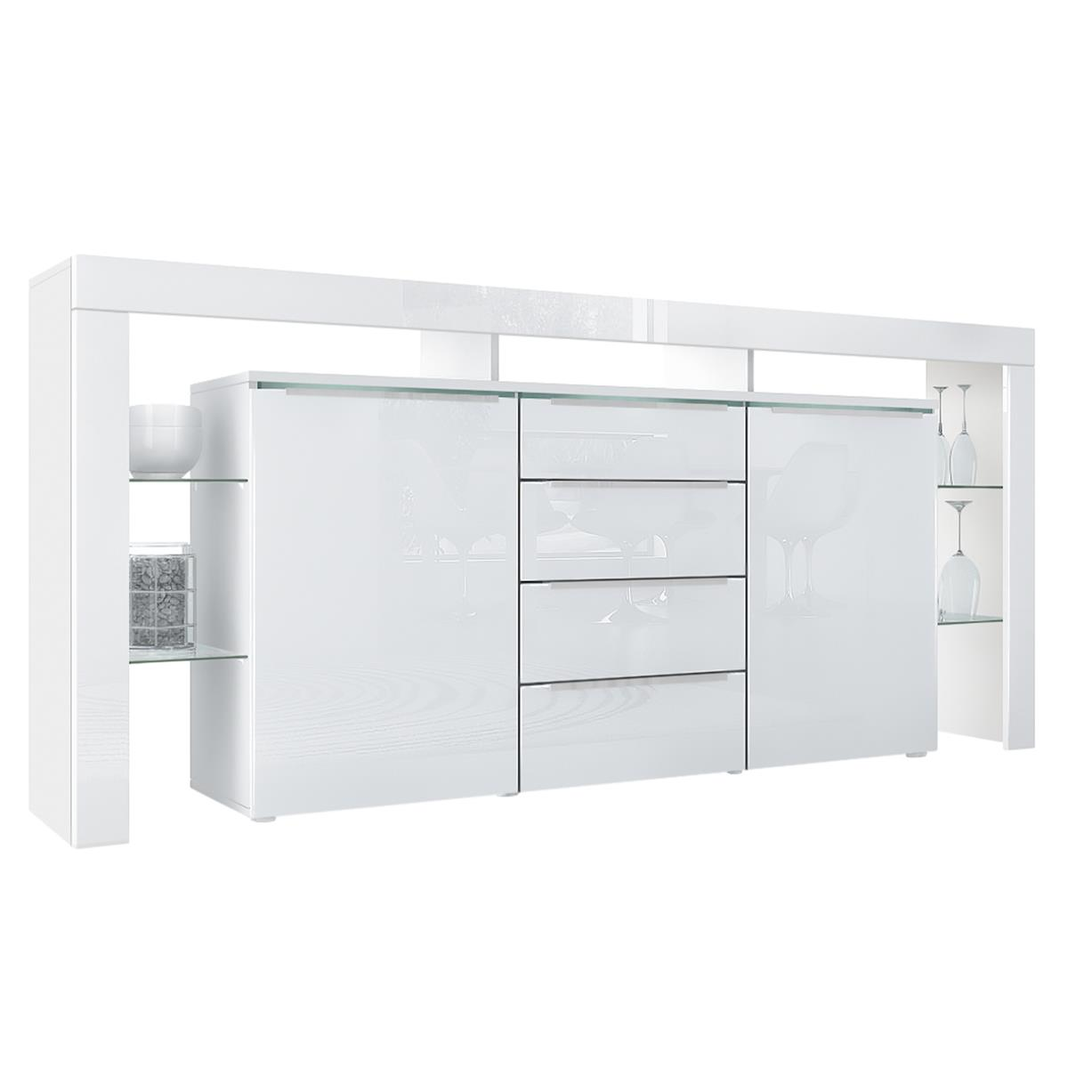 Weiße Sideboards Sideboard Lima Nova Mit Regalaufbau Glaselemente And Led