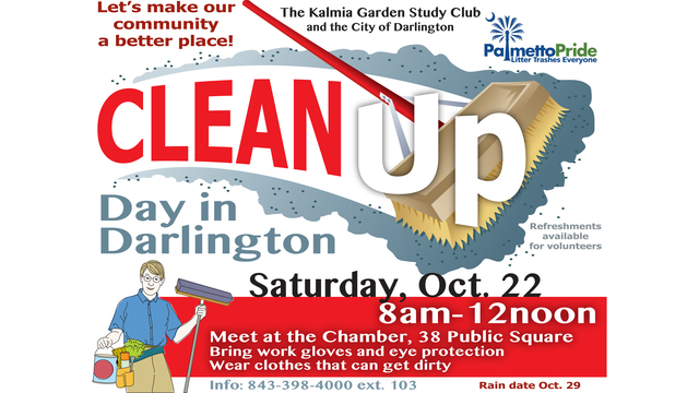 Community invited to come together to clean up Darlington