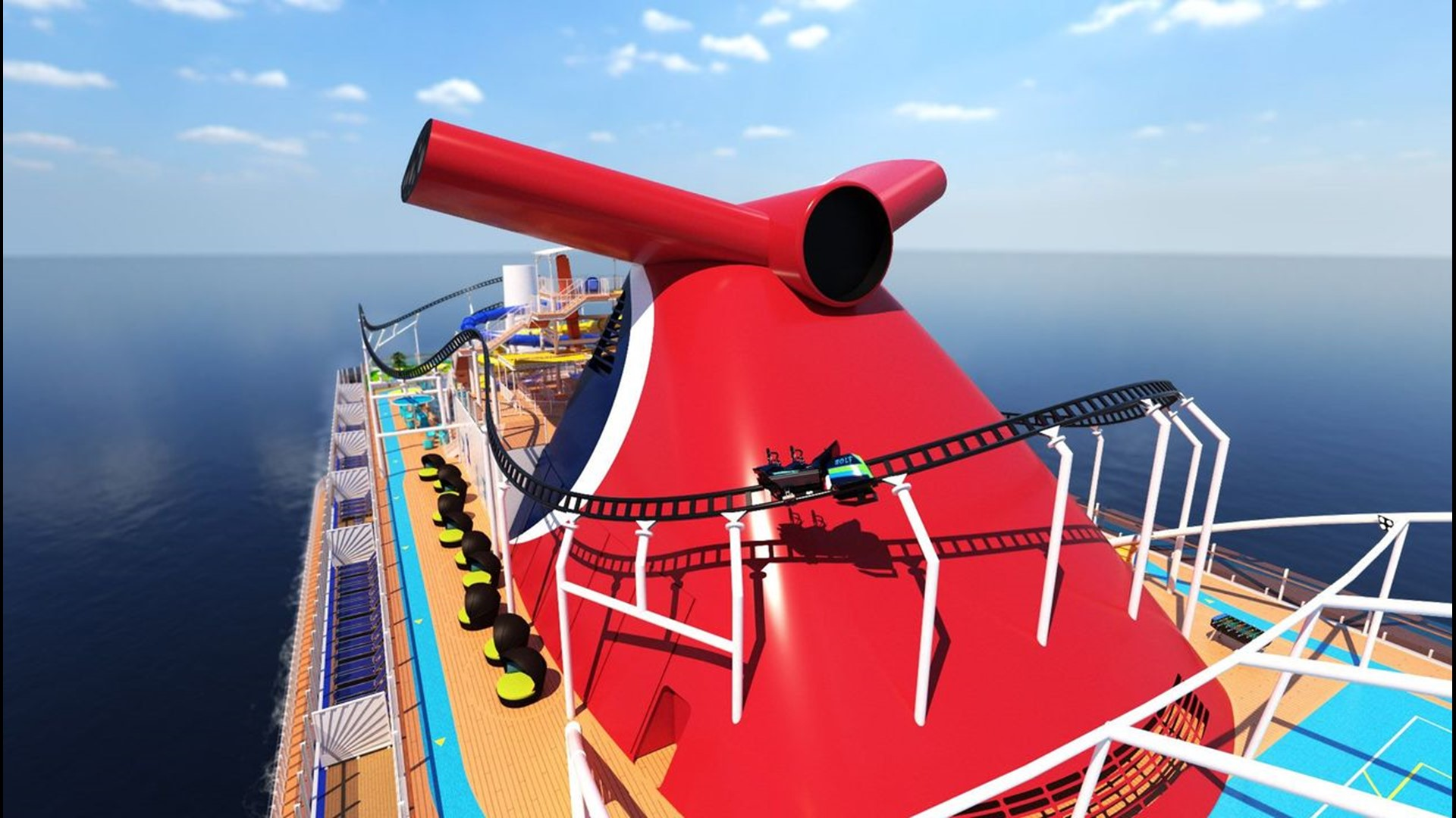 Giant New Carnival Ship Coming In 2020 Will Have A Roller Coaster Really Wgrz Com
