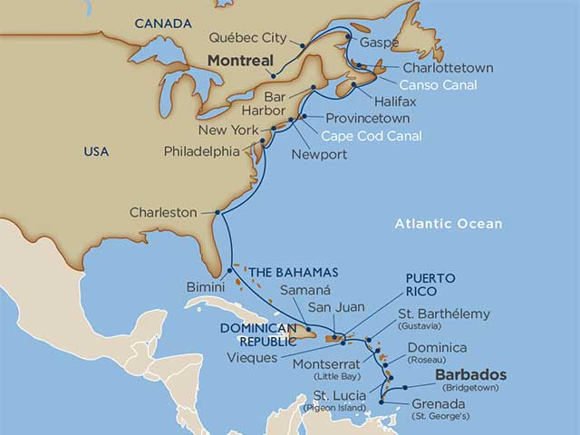 Cruise Itinerary and Ports star collector southern migration