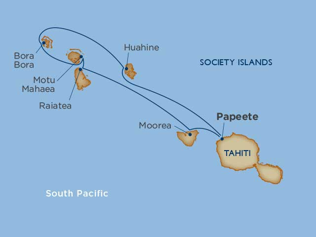 Cruise Itinerary and Ports dreams of tahiti
