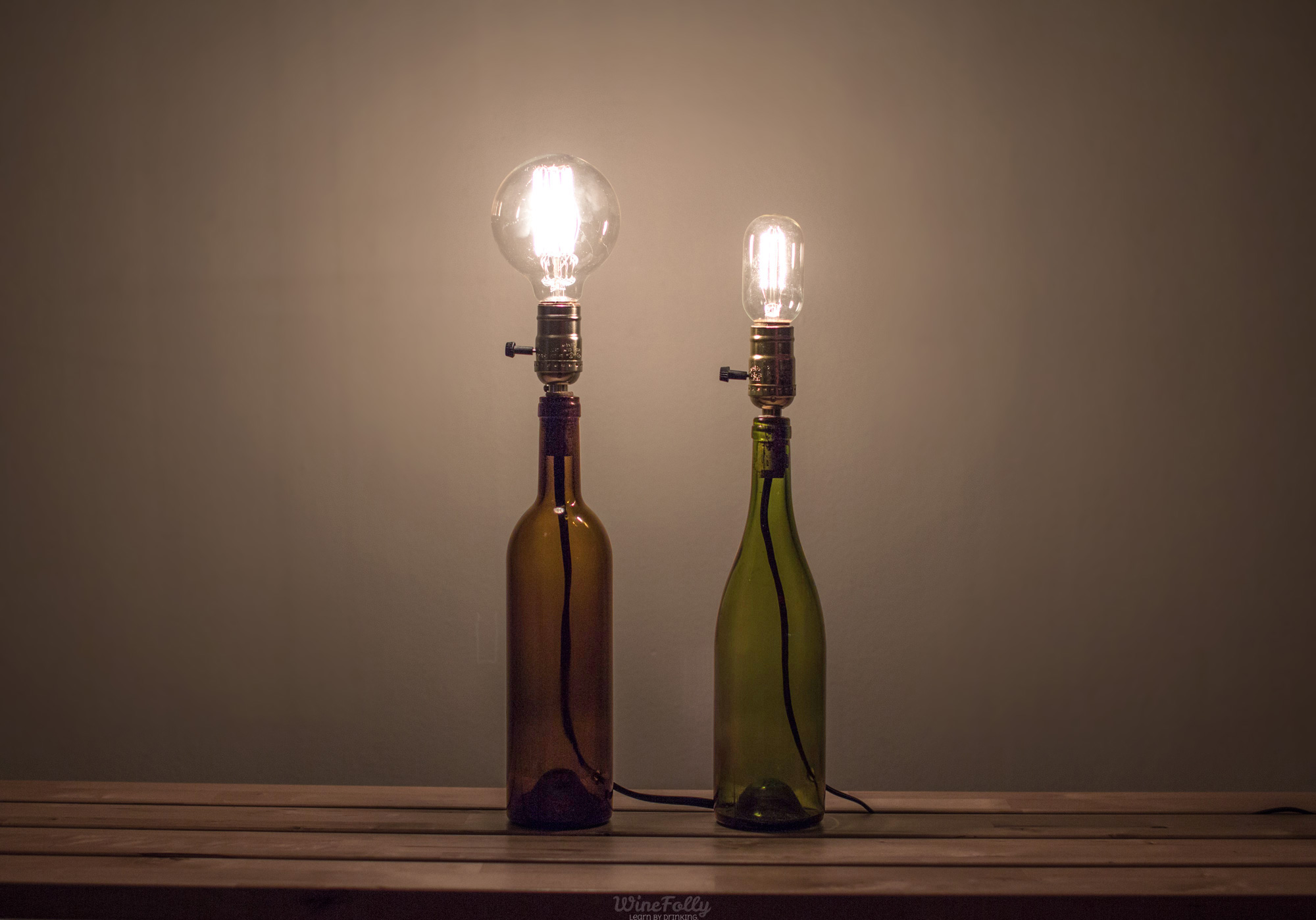 Glass Edison Lamp How To Make A Wine Bottle Lamp Wine Folly