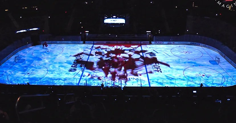 Led Culture Indoor The Visual Trickery That Turns Hockey Rinks Into Lakes Of