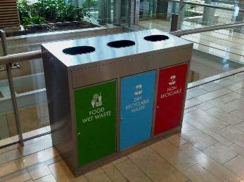 Postwink Colour Coded Wheelie Bins For Recycling