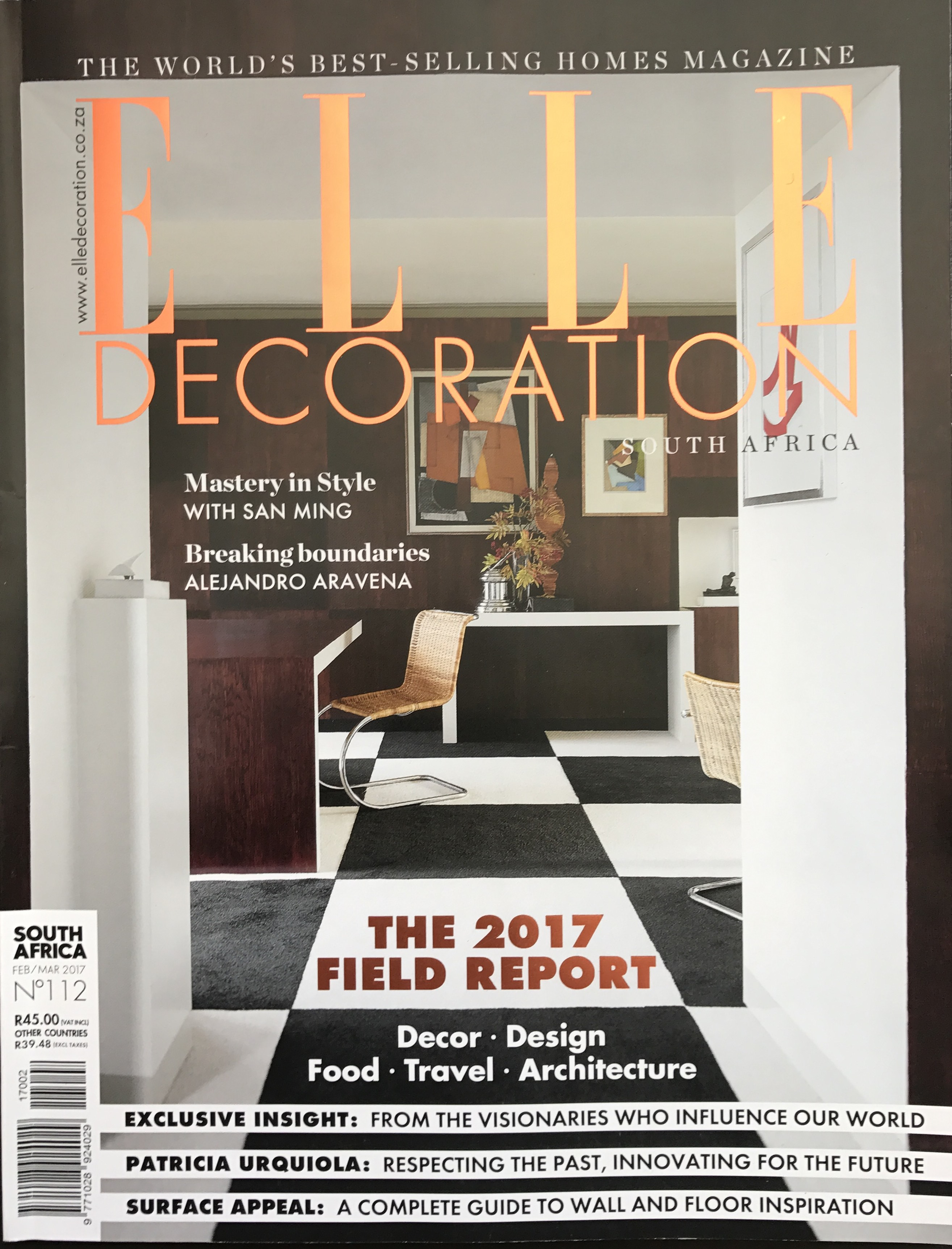 Elle Decoration South Africa Elle Decoration Febr March 2017 Kurt Pio