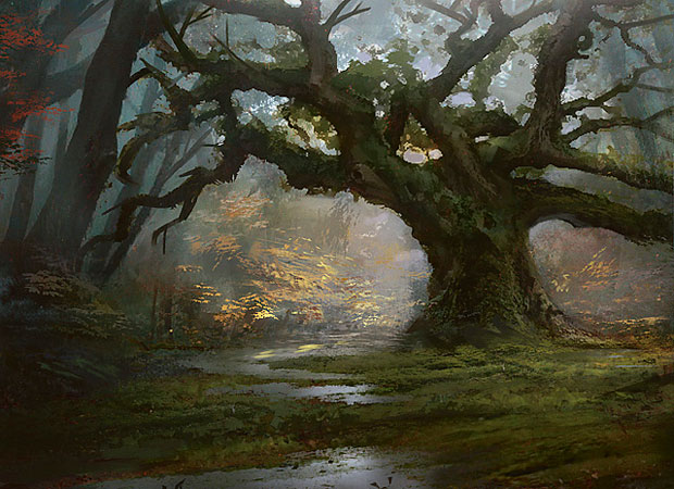 Titans Wallpaper Iphone Gallery Magic The Gathering Forest Art