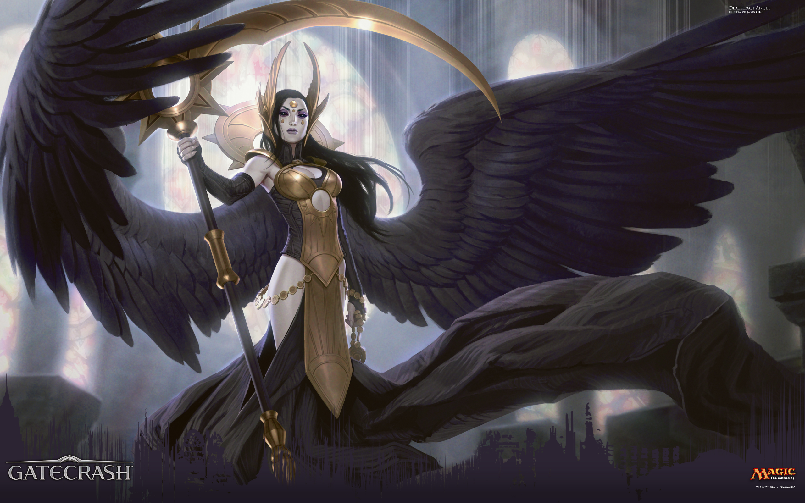 Mtg Wallpaper Wallpaper Of The Week Deathpact Angel Magic The Gathering