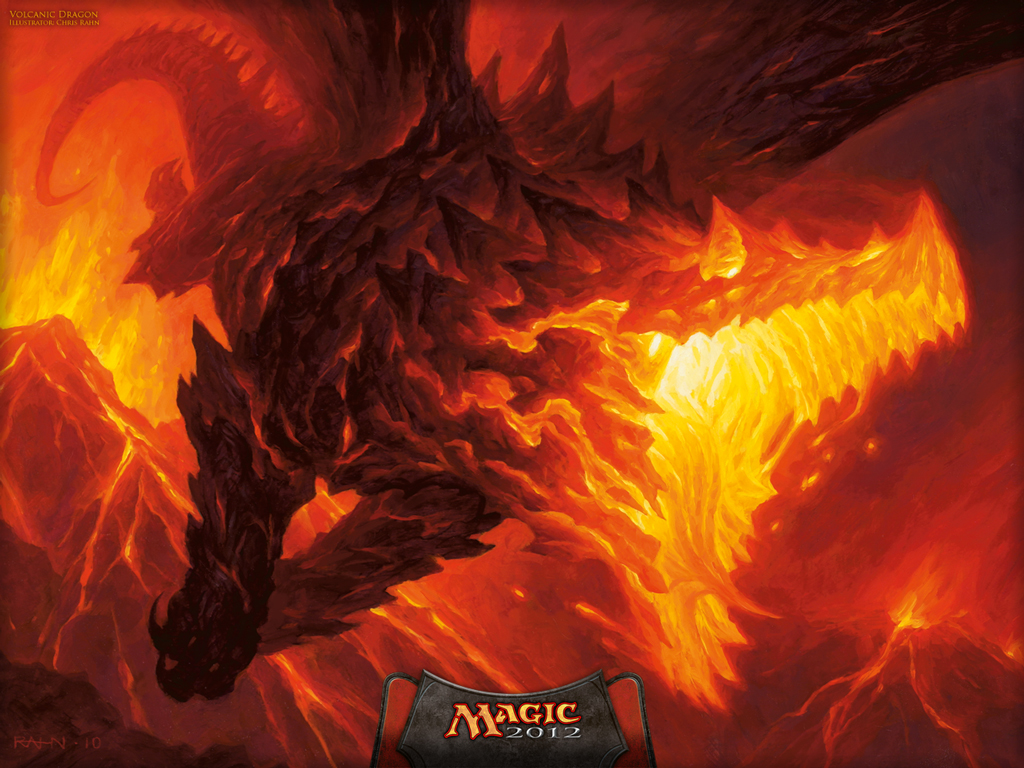 X Files Iphone Wallpaper Wallpaper Of The Week Volcanic Dragon Magic The Gathering