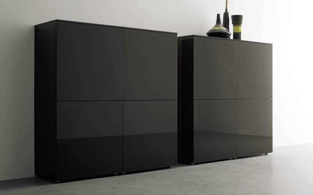 Weiße Couchtische Hochglanz Lampo Highboard Four - San Giacomo Highboards
