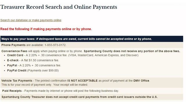 Spartanburg Treasurer\u0027s office rolls out new website - WSPA - how to make a receipt for payment