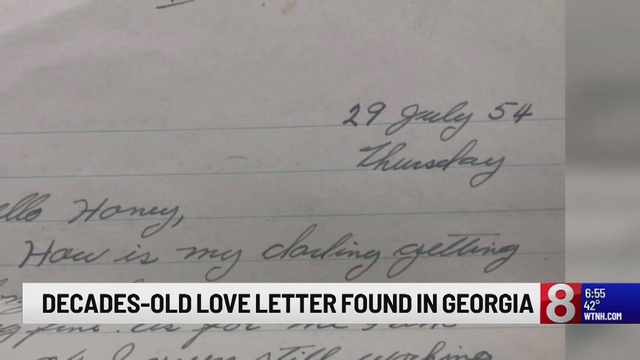1954 love letter from soldier found inside Georgia Walmart