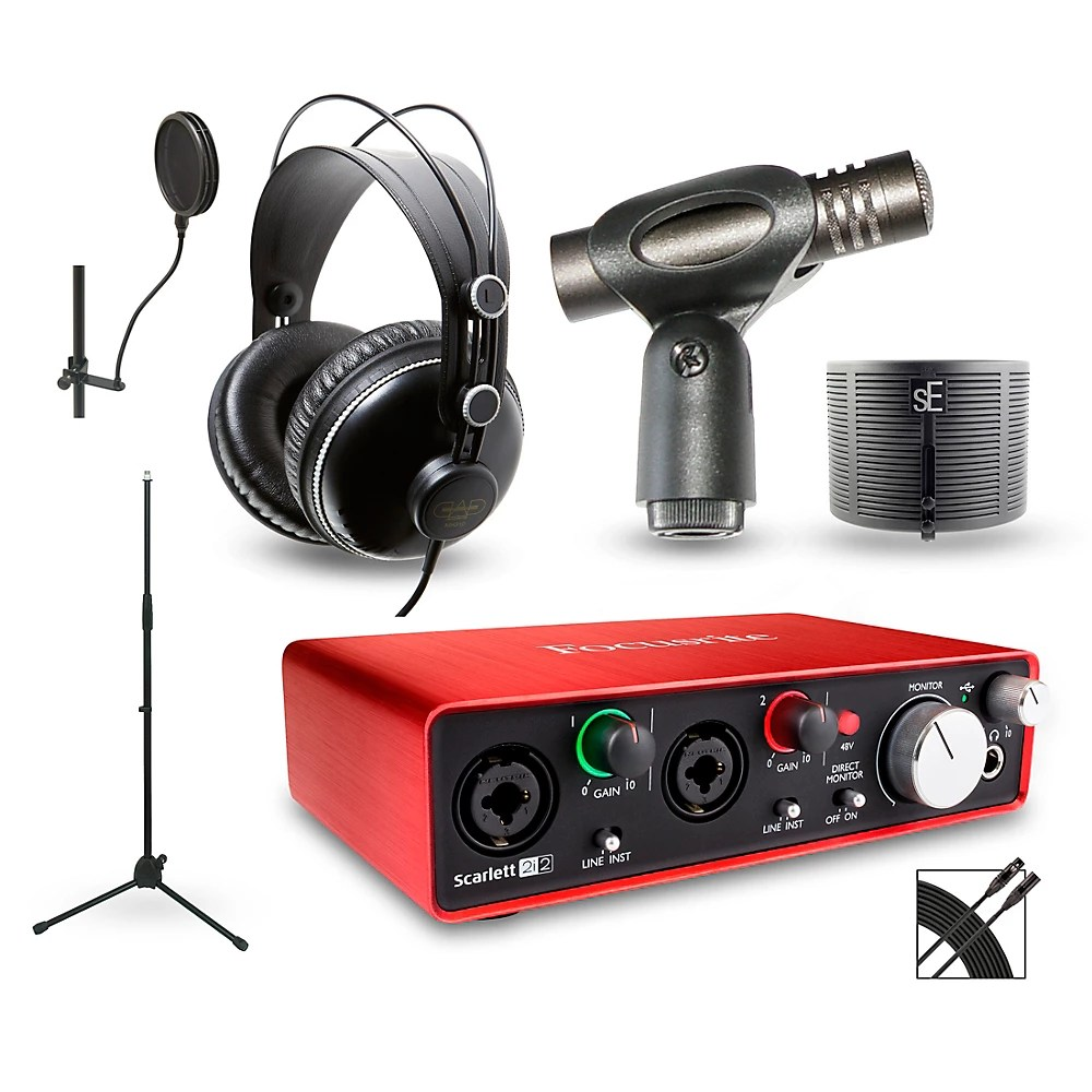 Scarlett 2i2 Details About Focusrite Recording Package With Scarlett 2i2 And Mh310 Headphones Cm217