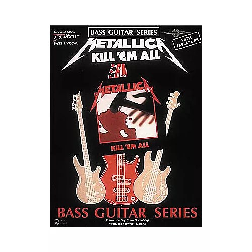 Cherry Lane Metallica - Kill \u0027em All Bass Guitar Series Tab Songbook