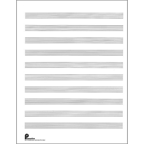 Music Sales Passantino Music Paper Filler No2 96 Pages, 85X11, 3