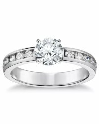 Blue Nile Channel-Set Diamond Engagement Ring Wedding Ring ...
