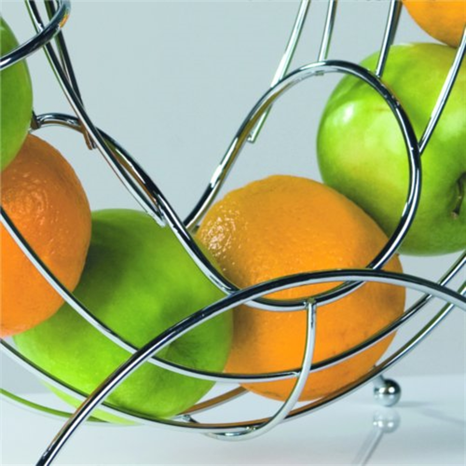 Designer Fruit Basket Design Fruit Basket Pipe Silver Wire Chromed Bowl
