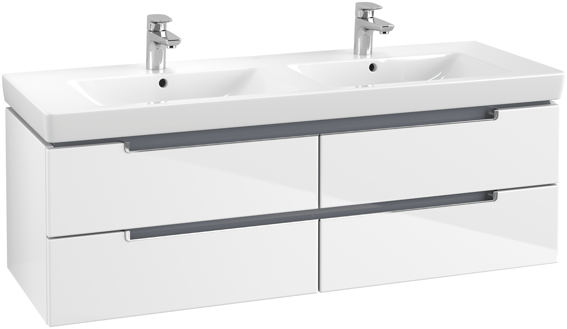 Doppelwaschtisch Villeroy Boch Subway 2.0 Villeroy Boch Subway 2 Vanity Unit 1287 With 4 Drawers