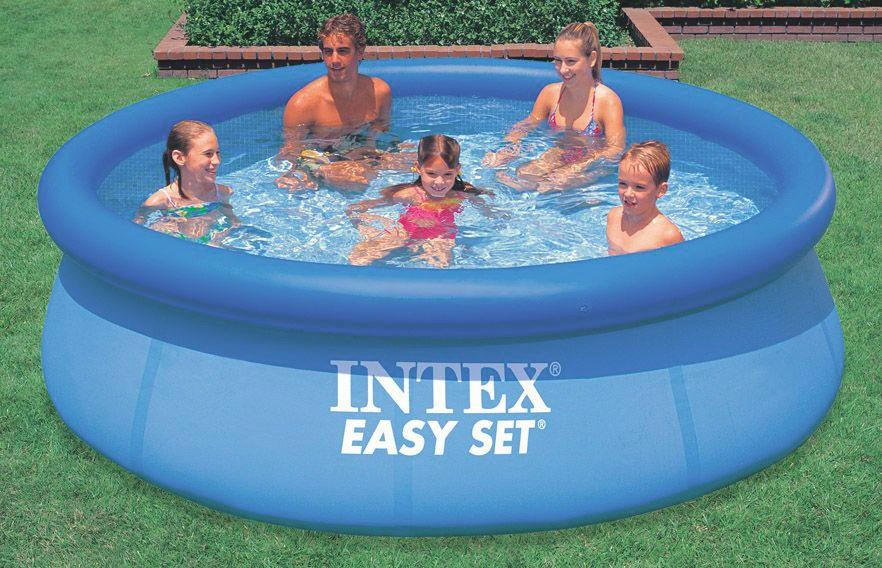 Intex Pool Nicht Rund Easy Set Pool 305 76 Cm Blau