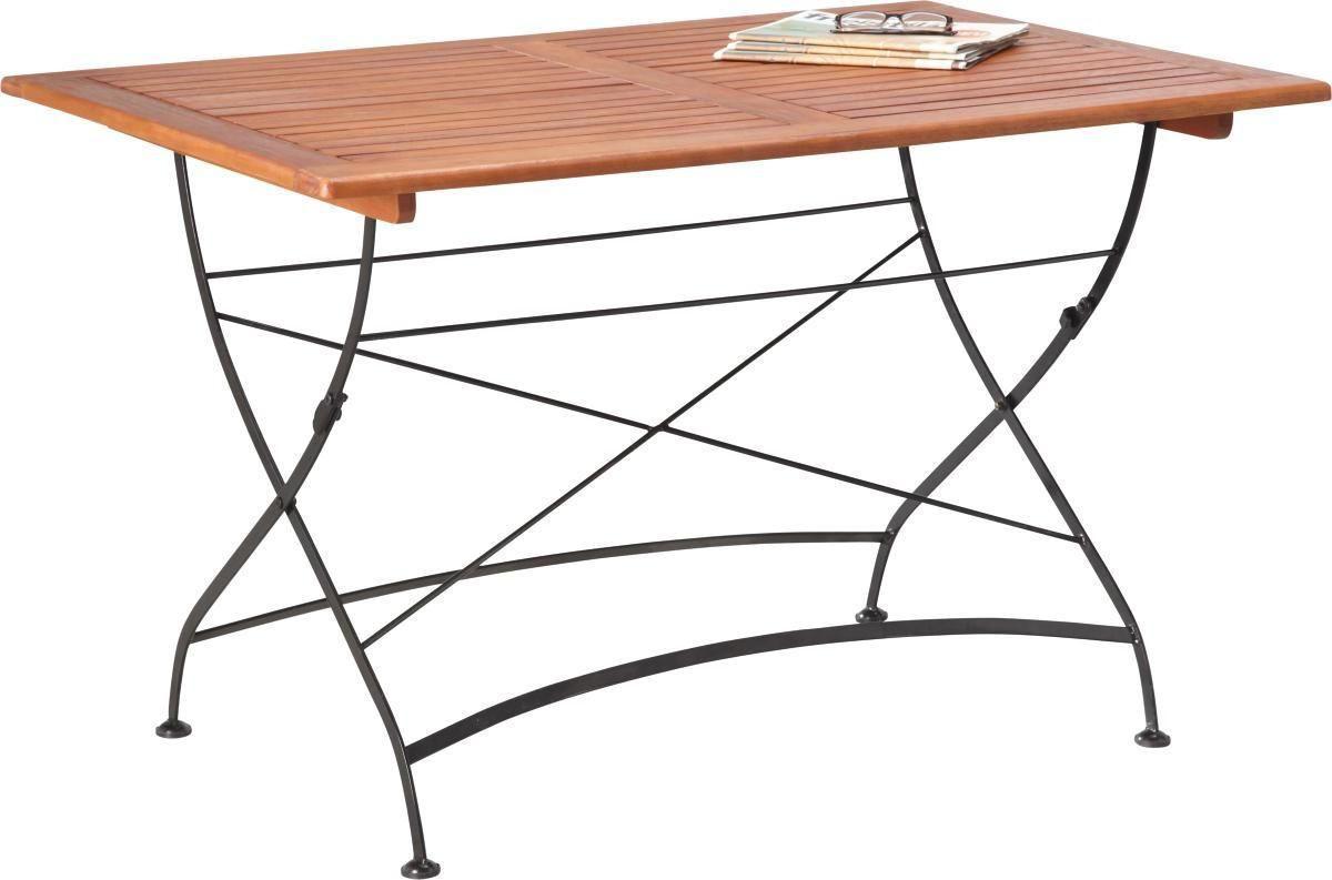 Gartentisch Holz Achteckig Teakholz Tisch Klappbar Tisch York 100