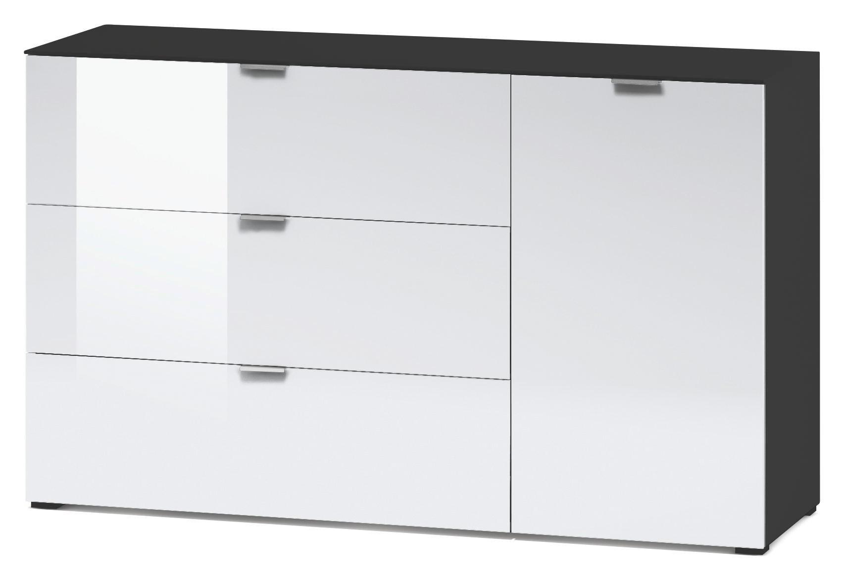 Kommode Glasfront Kommode Schubladenkommode Anrichte Easy Plus