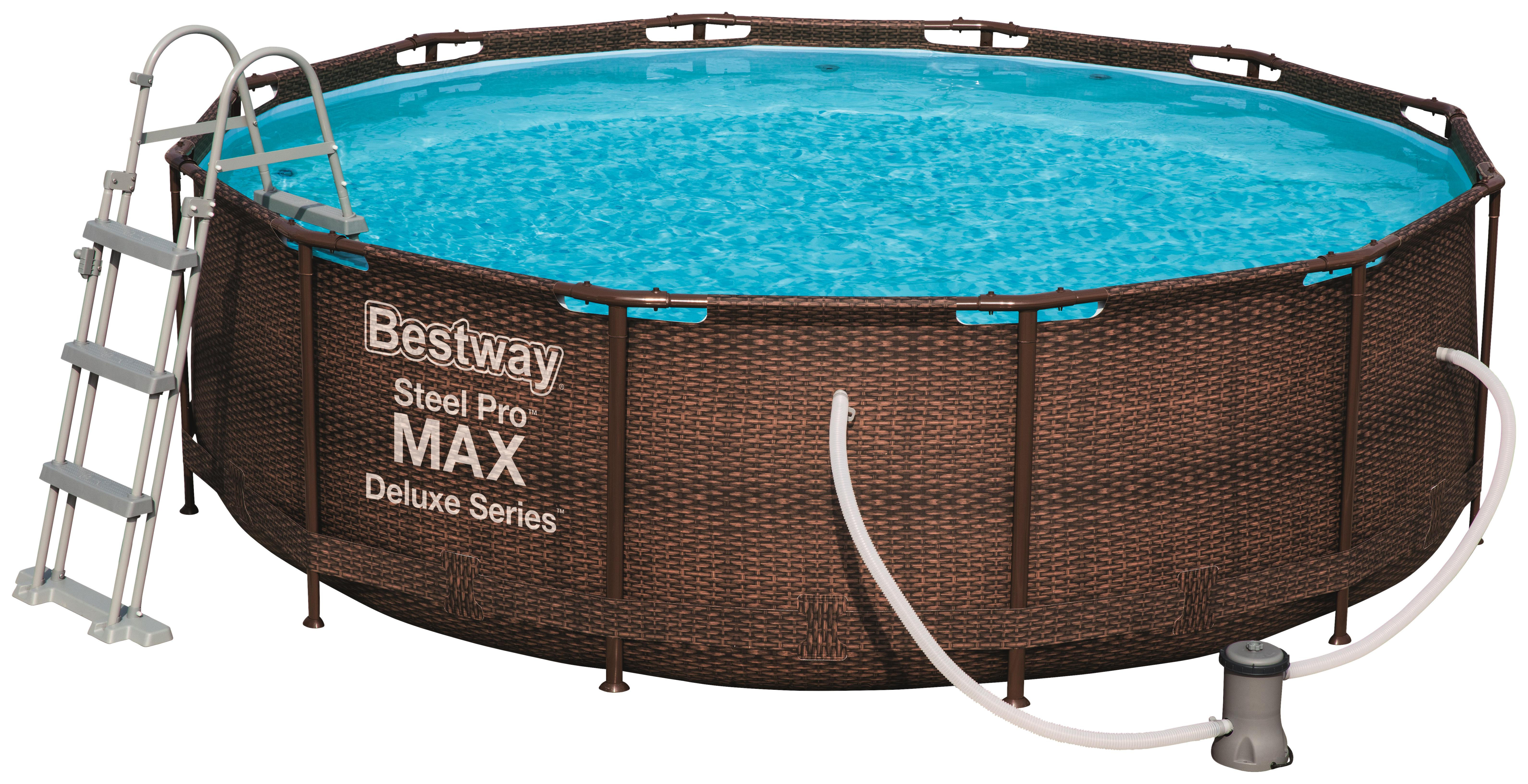 Bestway Pool Nicht Rund Pool Set 56709