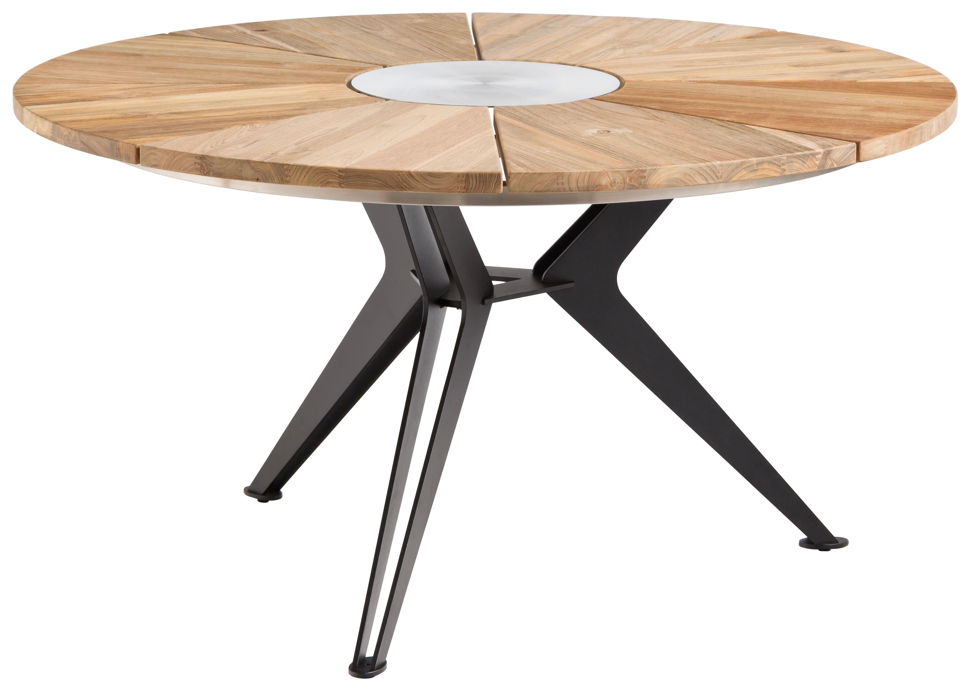 Gartentisch Metall Rechteckig Aluminium Gartentisch Holz
