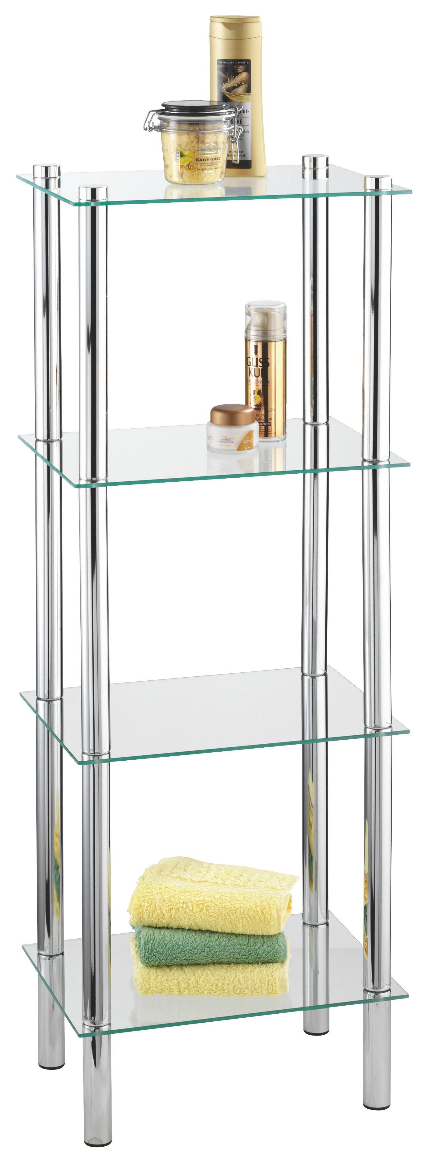 Badezimmer Regal Glas Chrom Chromovy Kupelne Gold Glas Mit