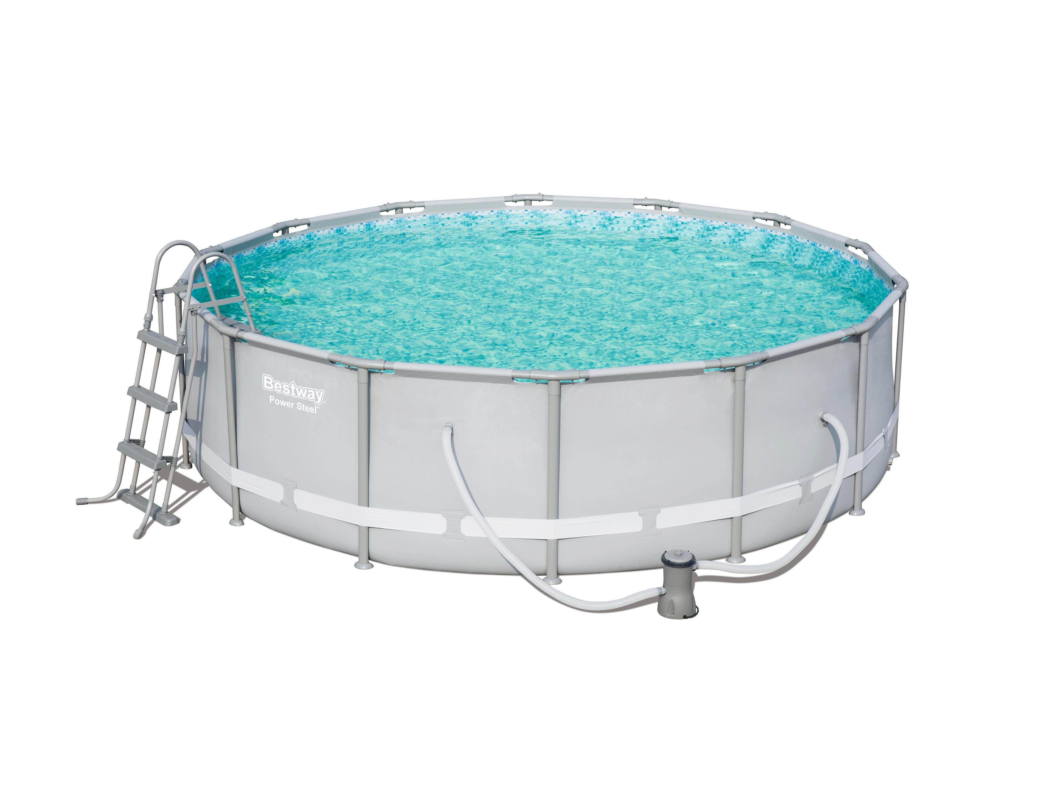 Bestway Pool Nicht Rund Poolset Power Steel 56641