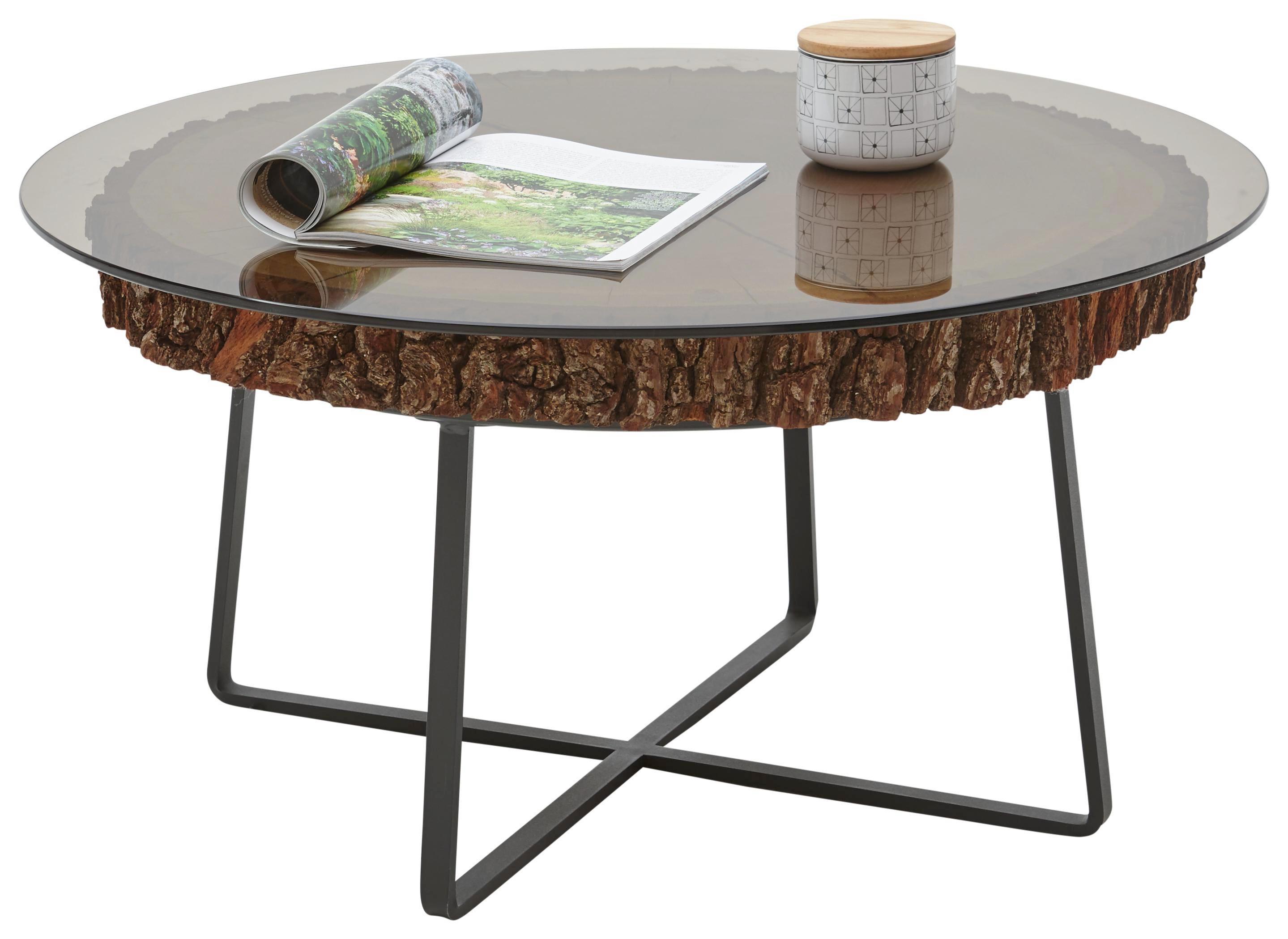 Design Couchtisch 2er Set Big Fusion Anthrazit Kupfer Tischplatten