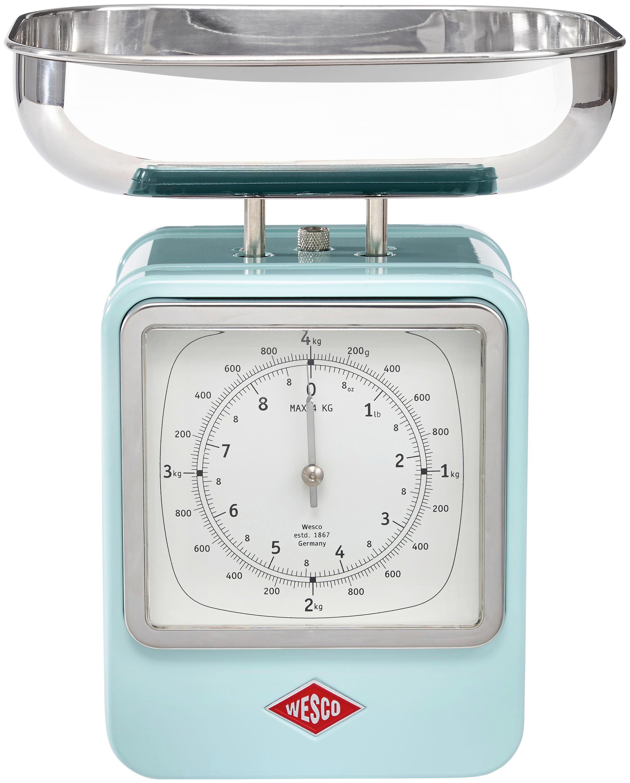 Hervorragend Wesco Retro Küchenwaage Mit Uhr Silber Grün