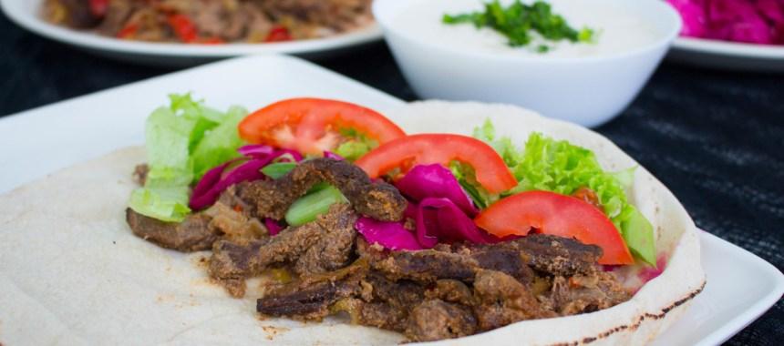 Kött shawarma- Kebab