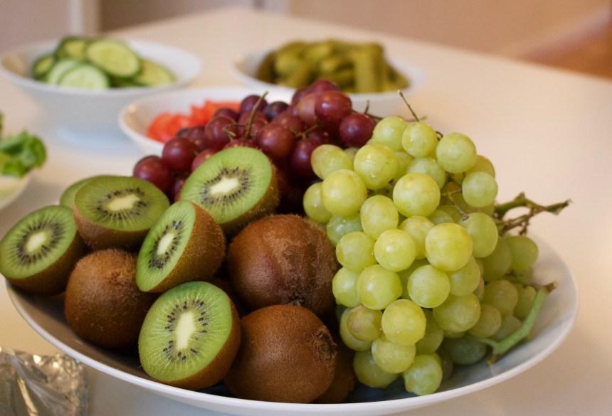 Lite frukt hade vi också på buffen.